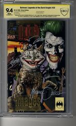 Batman Legends Of The Dark Knight 1989 Embossed 50 - Cbcs 9.4 White Pgs Ss9x