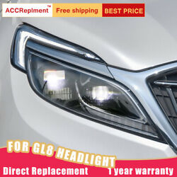 2pcs For Buick Gl8 Headlights Assembly Led Lens Projector Full Led Drl 2017-2019