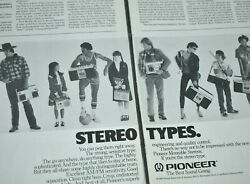 1981 Vintage Print Ad Pioneer Stereo Types Boombox Portable Radios Am Fm 2 Page