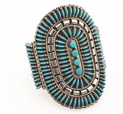 Silver Sterling 925 Bracelet Turquoise Na Jewellery Zuni Jewelry Signed H.h