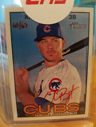 Kris Bryant 2016 Topps Heritage Real One Autographs Red Ink Roa-kb 60/67 Mint