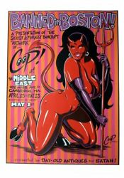 Coop 1998 Banned In Boston Art Show Poster @ Middle East Cambridge MA