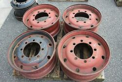 8 Bolt 9x 22.5andrdquo Set 4 Commerical Truck Lorry Unimog Trailer Rims One Piece Used