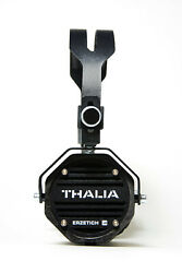 Erzetich Thalia Black, Handcrafted Portable On-ear Headphones With Wooden Cup