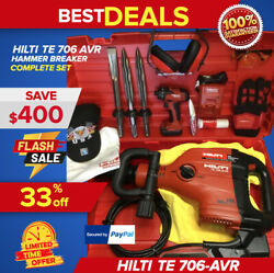 Hilti Te 706 Avr Hammer Drill, Preowned, Complete Set, Fast Shipping