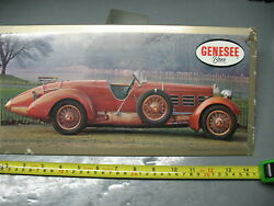 Genesee Beer Sign P -129 Rochester Ny  1924 Hispano Suiza  Steel Litho