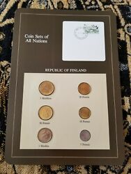 Finland Coins Of All Nations 1981-1984 Unc Uncirculated Set