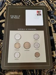 Indonesia Coins Of All Nations 1970-1979 Unc Uncirculated Set