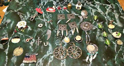 35 Pcs Jewelry Charms Multi-findings Vintage Earrings/brooches/pins Good Quality