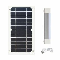 Led Outdoor Camp Light Rechargeable Portable Night Lamp Lantern Solar Panels New