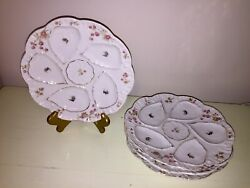 Set Of 4 Marx Gutherz Carlsbad Circa 1900 Oyster Plates