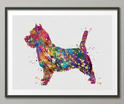 Cairn Terrier Dog Watercolor Print Dog Print Custom Doglover Gift Print-1524