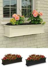 4ft And 5ft Window Box Flower Planter Garden With Wall Mount Brackets In 3 Colors