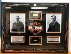One Of A Kind Certified William S Harley And Arthur Davidson Signed Artwork