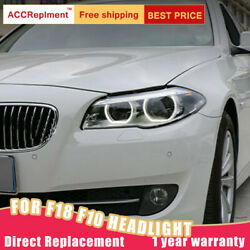 For Bmw 5 Series F18 F10 Headlight Assembly Led Lens Projector Led Drl 2011-2017