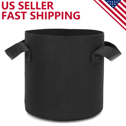 6 Pack Grow Bags Garden Heavy Duty Non Woven Aeration Plant Fabric Pot Container