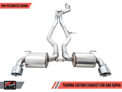 Awe Resonated Touring Edition Exhaust 5 Chrome Silver Tips For 2020 Gr Supra