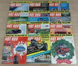 Hot Rod Magazine 1964 Complete Year Lot of 12 Issues Hemi 426 Drags 427 Ford Cam