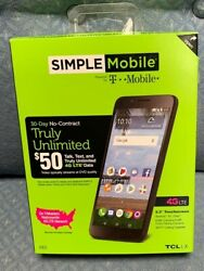 Simple Mobile T-mobile 4g Lte Tcl Lx No Contract Phone Wow