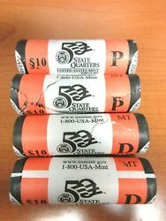 2007 Montana State Quarter P And D 4-roll Set - 2-p Rolls And 2-d Rolls