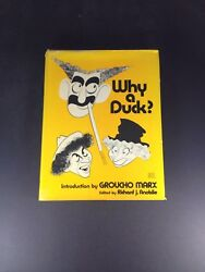 Groucho Marx Signed Autograph Hc Book, Why A Duck Psa/dna Graded Gem-mint 10