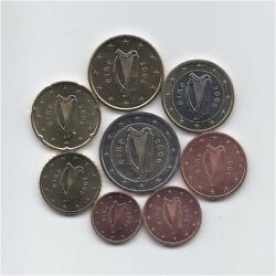Ireland 2006 Full Uncirculated Euro Coins Set 1 Cent To 2 Euro Better Date