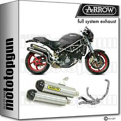 Hom Nocat Slip-on Complete Arrow Round Titan C Ducati Monster S2r 1000 05/06