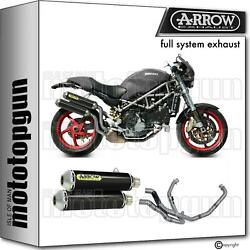 Race Slip-on Complete Arrow Round Carbon Ducati Monster S4rs Ts 06/07
