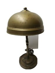 Vintage Solid Brass Desk Lamp Handel Style Finial Antique Collectible Lighting