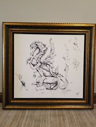 Davian Giclee On Canvas Sketch Framed Signed 79/480 Nano Lopez Rare Large