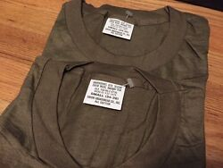 Lot 2 Vintage 1986and039s Us Army Military Undershirt Sleeve Crew Neck Thin T Shirt.