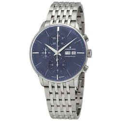Junghans Meister Chronoscope Sunray Blue Dial Automatic Menand039s Watch 027/4528.45
