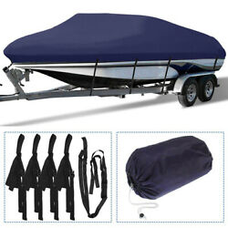 Waterproof Heavy Duty Boat Cover Trailerable Fishing Tri-hull V-hull Runabouts