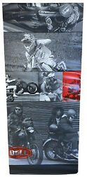 """Bell Helmet Display Banner 6'x32"""" Double Sided W/steel Hangers Evil Knievel Rare"""