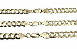 Solid 10k Yellow Gold 6mm-8mm Cuban Link Chain Necklace 16 30