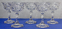 Five 5 Mckee Clear Tall Sherbet Dishes – Pres-cut Yutec Pattern