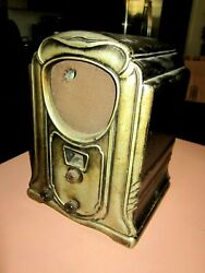 Hard Rubber 4 Tube Deco Tombstone Radio, May Not Be Fully Functional - Parts