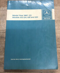 Used Mercedes-benz Service Model Year 1987 Usa Models 107 124 126 And 201 Manual