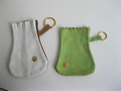 2 Suede Genuine Leather Bags Made in Spain Cosplay Coin Jewelry Pouches $24.99