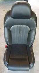 2017 2018 2019 Genesis G90 Driver Left Front Seat Complete W/ Wiring Black