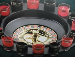 16 Pc Shot Glass Roulette Game New