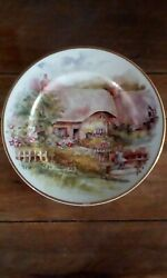 Lovely Decorative Plate Of Old Lsle Of White Thatched Cottage