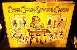 Antique Childs Toy Sewing Cards