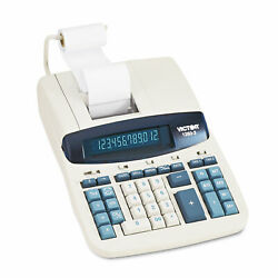 Victor 1260-3 Two-color Heavy-duty Printing Calculator Black/red Print 4.6 Lines