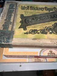Vintage W And A Stickney Cigar Co Chancellor Box And 2 H. Upmann Boxes