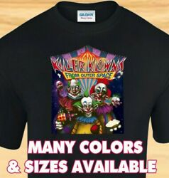 KILLER KLOWNS Funny 80s Horror Clown Movie CUSTOM T SHIRT
