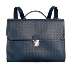 Childrenand039s Gg Microguccissima Leather School Bag Backpack Briefcase Navy