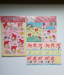 Vintage Sanrio My Melody 1988 Lot Of 4 Collectible Sticker Sheets
