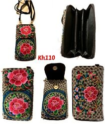 Flower embroidered Clutch Women's Wallet Purse $9.95