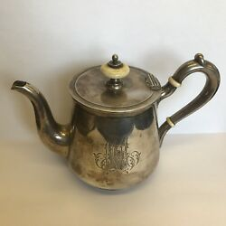 Antique Russian Solid Silver Teapot Probably Jenny Vakever / Wakever Of Faberge